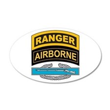CIB with Ranger/Airborne Tab 35x21 Oval Wall Peel
