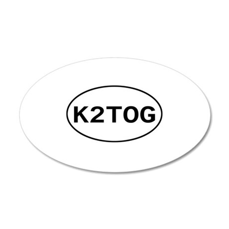Knitting - K2TOG 20x12 Oval Wall Peel