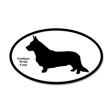 Cardigan Welsh Corgi 35x21 Oval Wall Peel