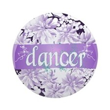 Crystal Violet Dancer Wreath Ornament (Round)