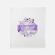 Crystal Violet Dancer Wreath Throw Blanket