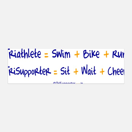 Triathlete vs. TriSupporter 36x11 Wall Peel