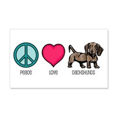 Peace Love & Dachshunds 20x12 Wall Peel