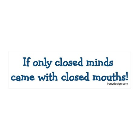 Closed Minds 20x6 Wall Peel