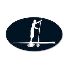 Paddleboarder MkI Black 20x12 Oval Wall Peel