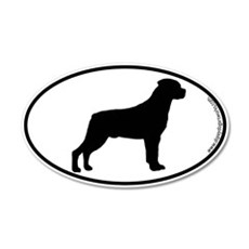 Rottweiler SILHOUETTE 20x12 Oval Wall Peel