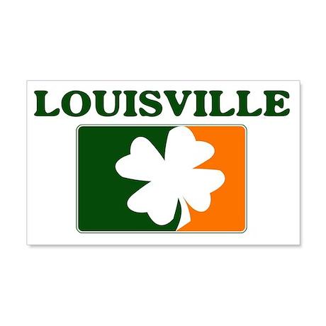 Louisville Irish (orange) 20x12 Wall Peel