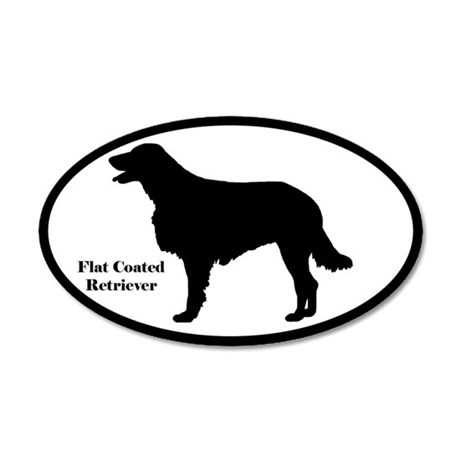 Flat Coated Retriever Silhouette Sticker