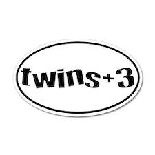 twins+3 20x12 Oval Wall Peel