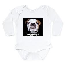 GRIN AND BEAR IT BULLDOG FACE Long Sleeve Infant B