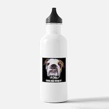 GRIN AND BEAR IT BULLDOG FACE Water Bottle