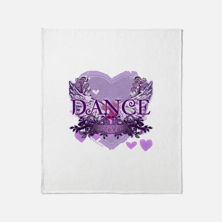 Dance Forever by DanceShirts.com Throw Blanket