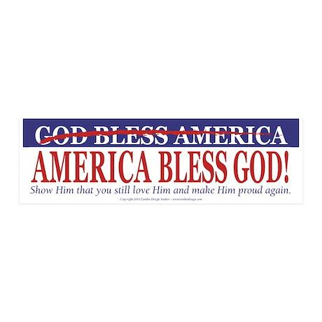 America Bless God 20x6 Wall Peel