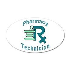 pharmacy technician 20x12 Oval Wall Peel