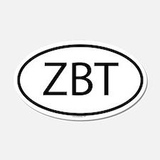 ZBT 20x12 Oval Wall Peel