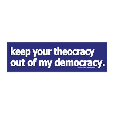 Keep your theocracy ... 20x6 Wall Peel
