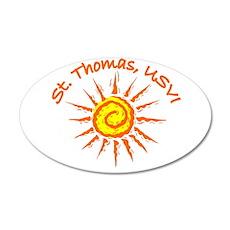 St. Thomas, USVI 20x12 Oval Wall Peel