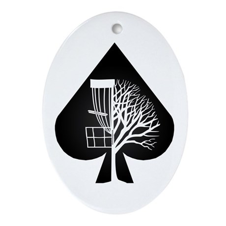 Wayne Disc Golf Ornament (Oval)