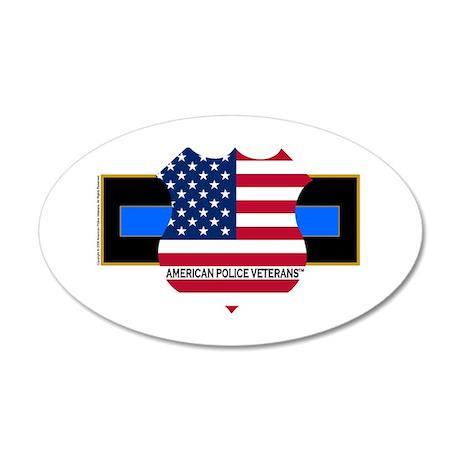 Policevets Logo 06 20x12 Oval Wall Peel