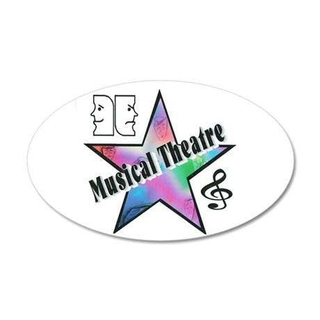 Musical Theatre Star 20x12 Oval Wall Peel