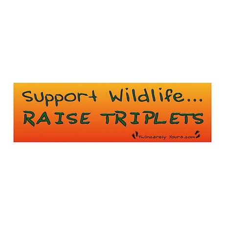 Support Wildlife - Raise Trip 20x6 Wall Peel