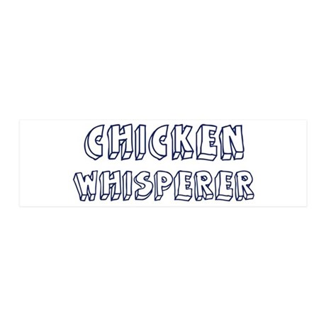 Chicken Whisperer 36x11 Wall Peel