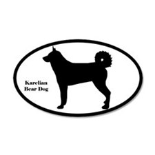 Karelian Bear Dog Silhouette Sticker