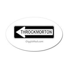 Throckmorton Sign 20x12 Oval Wall Peel