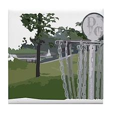 Lapeer Disc Golf Tile Coaster