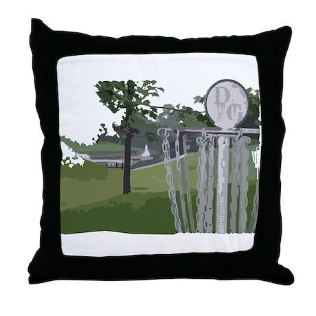 Lapeer Disc Golf Throw Pillow