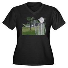 Lapeer Disc Golf Women's Plus Size V-Neck Dark T-S