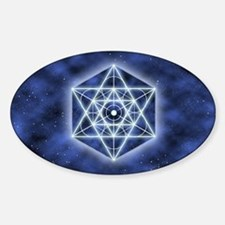 Celestial Blue Star Sticker (Oval)