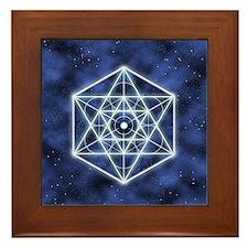 Celestial Blue Star Framed Tile
