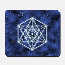 Celestial Blue Star Mousepad