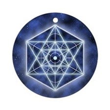 Celestial Blue Star Ornament (Round)