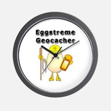 Eggstreme Geocaching Wall Clock