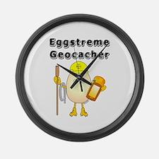 Eggstreme Geocaching Large Wall Clock