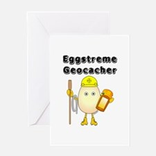Eggstreme Geocaching Greeting Card