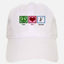 Peace Love Lacrosse Baseball Baseball Cap
