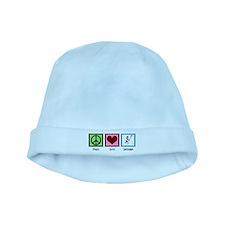Peace Love Lacrosse baby hat