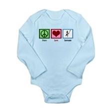 Peace Love Lacrosse Long Sleeve Infant Bodysuit