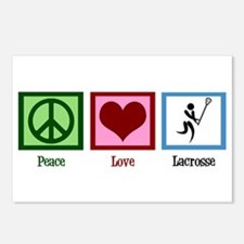 Peace Love Lacrosse Postcards (Package of 8)
