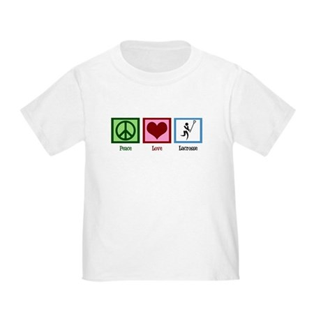Peace Love Lacrosse Toddler T-Shirt