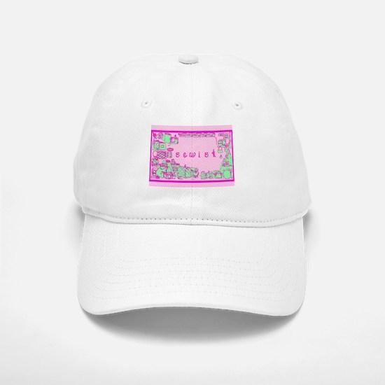 Sewist fabric font sewing border pink green Baseba