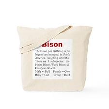 """""""Wildlife Definition"""" Bison Tote Bag"""