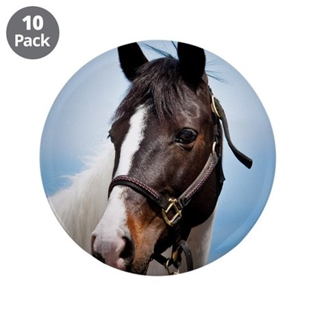 """Horse 3.5"""" Button (10 pack)"""