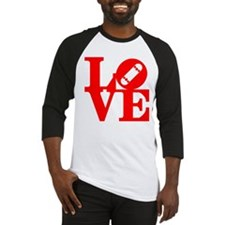 Love skate deck red Baseball Jersey
