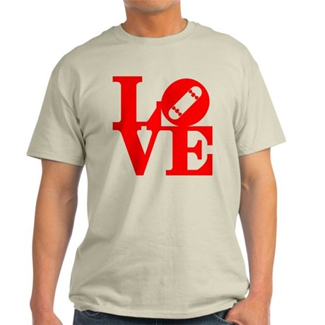 Love skate deck red Light T-Shirt