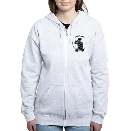 Black Schnazuer IAAM Women's Zip Hoodie