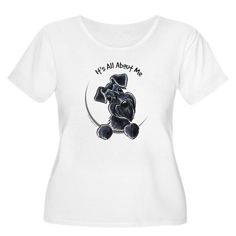 Black Schnazuer IAAM Women's Plus Size Scoop Neck